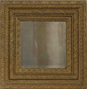 Gilt Wood Framed Beveled Mirror