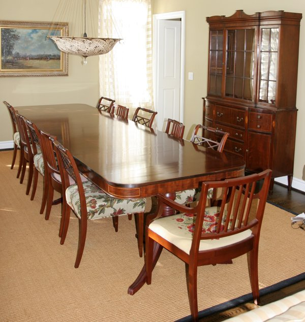 092147 hepplewhite style mahogany dining room set lot 92147