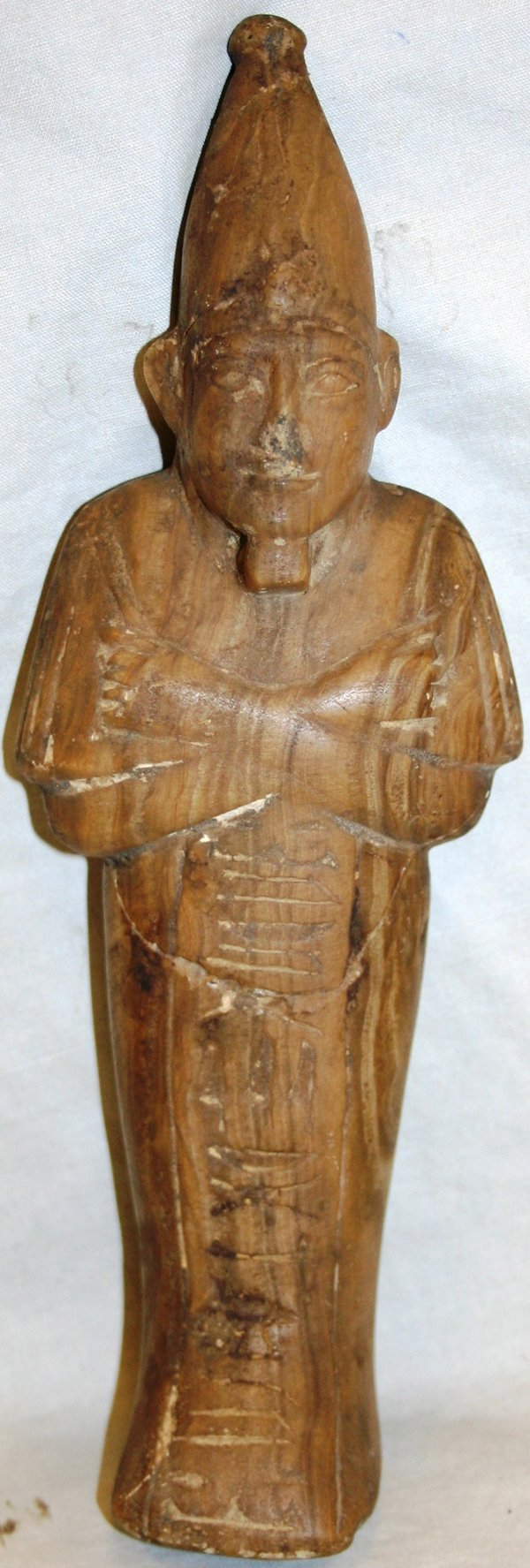 Egyptian carved stone figure h quot w lot