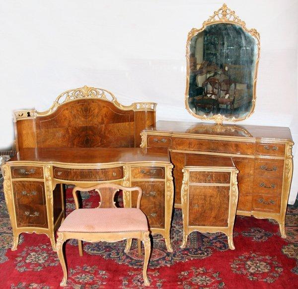 071331 joerns bros furniture co walnut bedroom set lot 71331