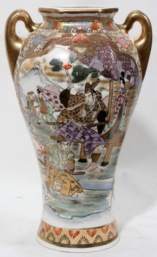 010408 Royal Nippon Nishiki Porcelain Vase C1930 Lot