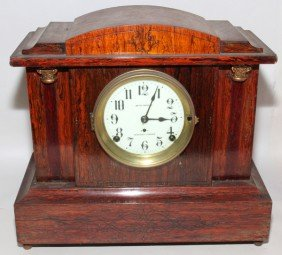 SETH THOMAS ROSEWOOD MANTLE CLOCK SONORA CHIMES