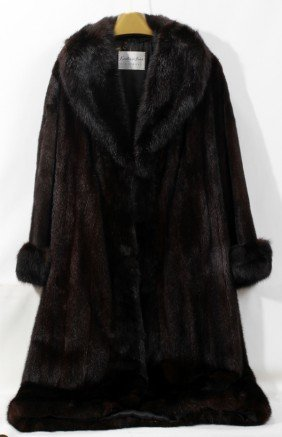 LADY'S BLUE MINK FULL-LENGTH COAT