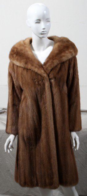 LADY'S AUTUMN HAZE MINK COAT
