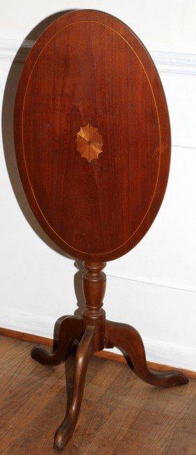 """MAHOGANY TILT TOP TABLE, C. 1930, H 28"""", W 15"""""""