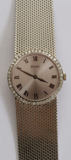 PIAGET LADY'S 18KT. WHITE GOLD & DIAMOND WATCH