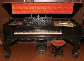 VOSE & SONS (BOSTON) ROSEWOOD PIANO 19TH C.