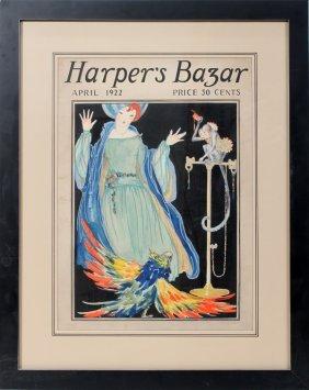 HARPER'S BAZAR, APRIL 1922  COVER ILLUSTRATION,