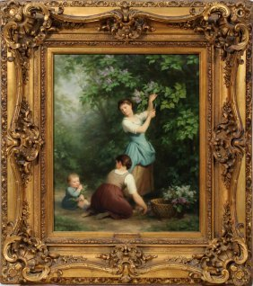 ZUBER-BUHLER FRITZ OIL ON CANVAS, MOTHER AND