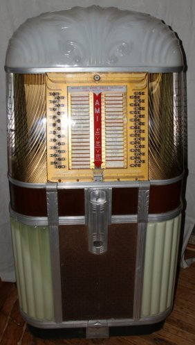 "AMI MODEL B JUKEBOX, #20799, C 1947-1949, 64"" H"