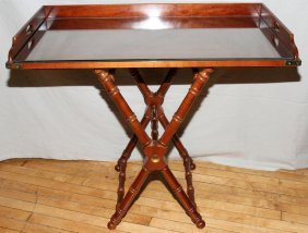 "MAHOGANY BUTLER'S TABLE, H 18"", W 20"", L 36"""