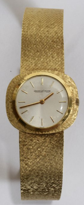 LE COULTRE 18KT YELLOW GOLD WRISTWATCH, L 8""