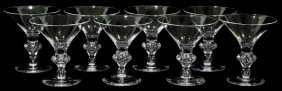 STEUBEN GLASS 'TEARDROP' COCKTAIL GLASSES,