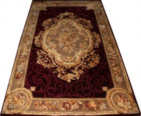 CHINESE AUBUSSON STYLE MODACRYLIC CARPET, 8'