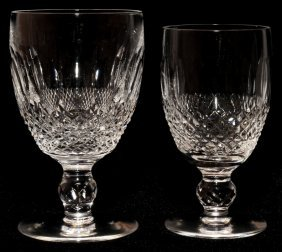 WATERFORD 'COLLEEN' CRYSTAL WINES & GOBLETS