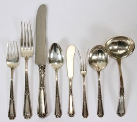 TOWLE 'LOUIS XVI' STERLING FLATWARE SET, 78 PCS