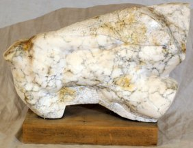 CARVED WHITE MARBLE SCULPTURE