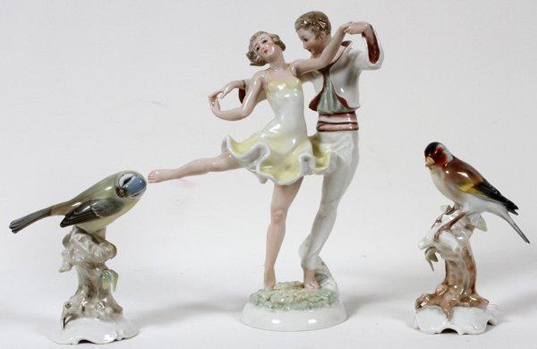 hutschenreuther porcelain figurines birds and lot 20246. Black Bedroom Furniture Sets. Home Design Ideas