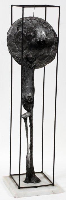 """JOHN WRAGG R.A. ALUMINUM SCULPTURE H 29 1/4"""","""
