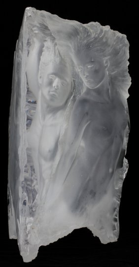 MICHAEL WILKINSON ACRYLIC SCULPTURE, 1988, H 20""