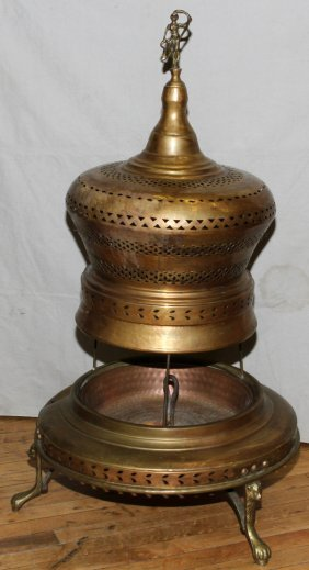Turkish Brass Brazier H 42 Quot Dia 24 Quot Lot 40126