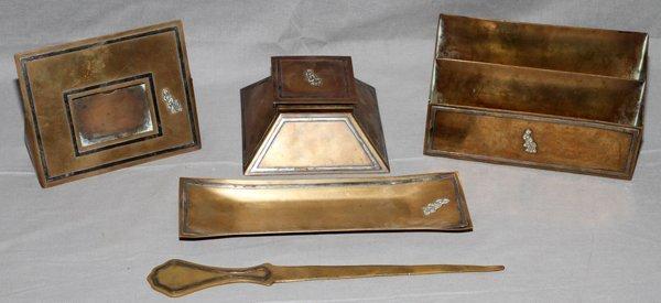 Realized Price For Heintz Art Metal Sterling On Bronze Desk