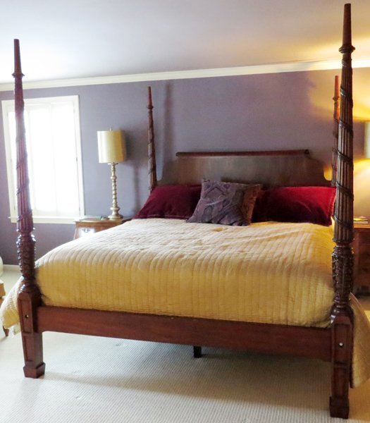 Ethan allen mahogany four poster king size bed lot 51383 for Ethan allen king size beds