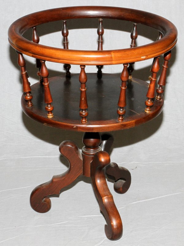 Carl Forslund Vintage Cherry Wood Sewing Stand Lot 80291