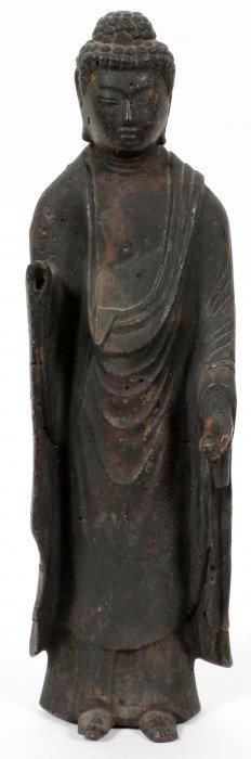 Chinese Iron Standing Figure Of Buddha