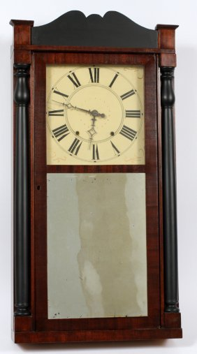 Jerome & Darrow Mahogany Wall Clock
