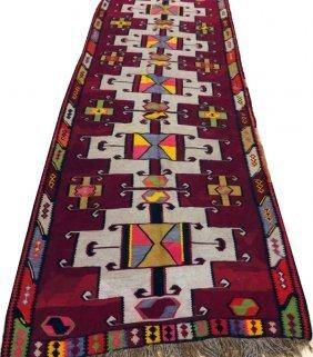 Turkish Bessarabian Hand Woven Wool Rug