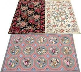 Chinese Needlepoint Wool Rugs 4 Pcs.