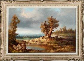 Hans Wagner Oil On Canvas Landscape