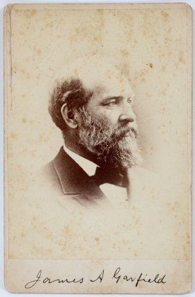 James A. Garfield Cabinet Card