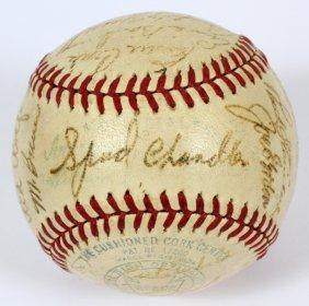 1942 New York Yankees Team Signed Baseball