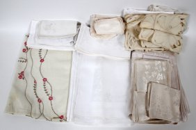 Linen Lace Tablecloths Napkins & Table Runners