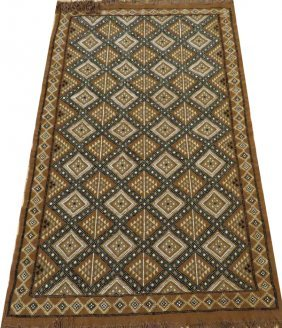 Turkish Hand Woven Wool Hook Rug