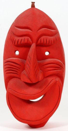 Gene Thomas Carved Iroquois Mask C. 1979