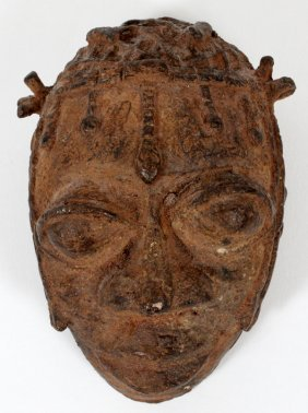 African Bronze Head Form Mask
