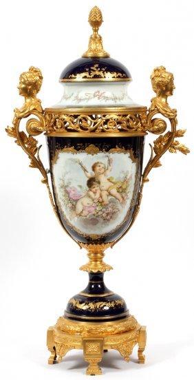 Sevres Porcelain & Bronze-mounted Covered Urn