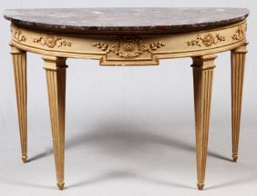 Italian Neoclassical Painted & Parcel-gilt Console