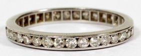 Platinum & 1.03ct Diamond T.w. Wedding Band, Size 7.25