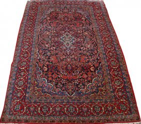Kashan Persian Rug Early 20th C.