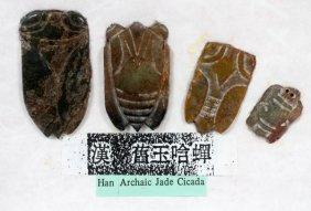 Chinese Archaic Jade Cicadas, Four