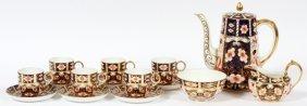 Royal Crown Derby 'traditional Imari' Coffee Set