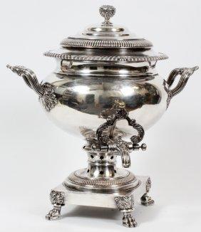 George Iii Sheffield Plate Tea Urn C. 1820