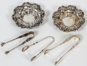 Reed & Barton 'francis I' Sterling Nut Dishes, Two