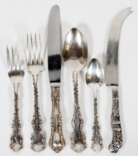Birks 'louis Xv' Sterling Flatware 22 Pieces