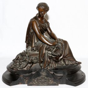 Classical Style Bronze Sculpture Late 19th C.