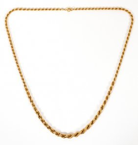 14kt Yellow Gold Twist Necklace